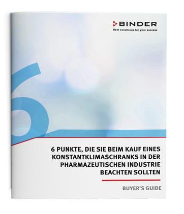 Buyers Guide Konstklimaschrank Pharmaindustrie