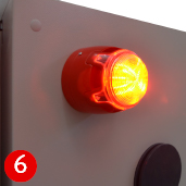 Warning indicator lamp