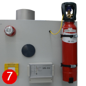 CO2 fire suppression equipment